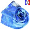 Echarpe en soie Gaudi - Grand Bleu