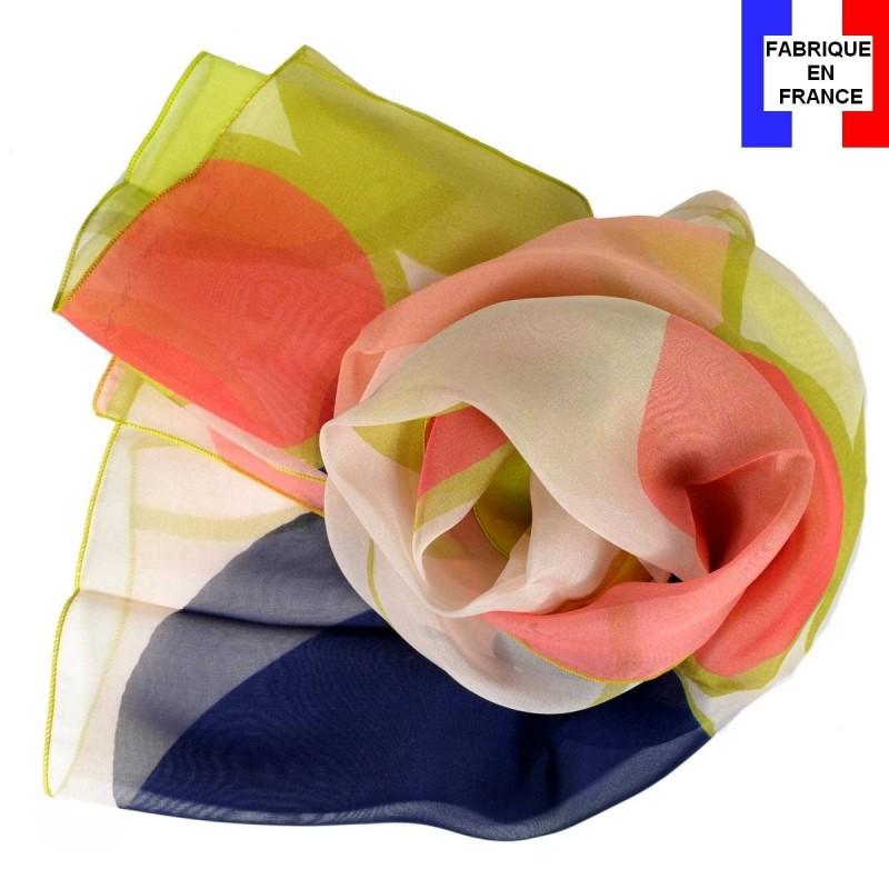 Echarpe en soie Delaunay S. - Ronds