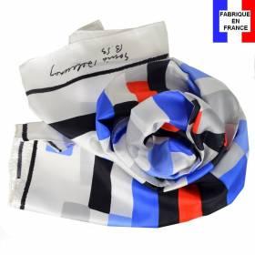 Echarpe en soie Delaunay S. - Rectangles
