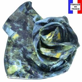 Echarpe en soie Cézanne - Paysage Bleu