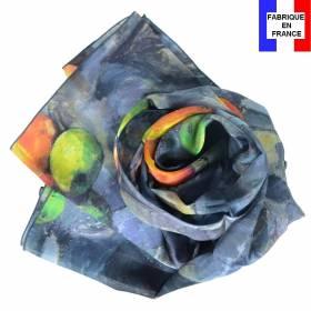 Echarpe en soie Cézanne - Nature morte compotier
