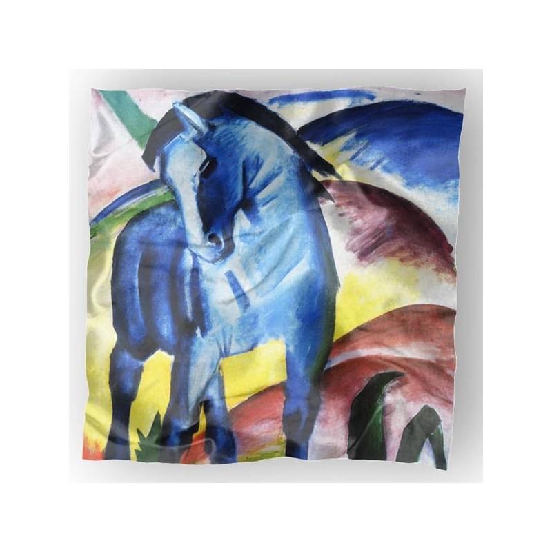 Carré de soie Franz, Le Cheval Bleu