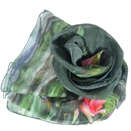 Echarpe en soie Piton - Jardins de Giverny, Nymphéas