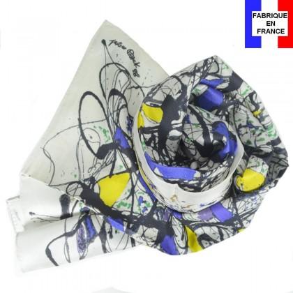 Echarpe en soie Pollock
