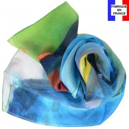 Echarpe en soie Marc - Le cheval bleu
