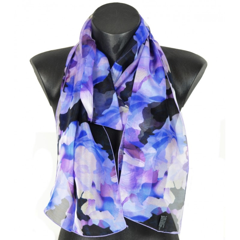 Foulard en soie rose des sables violet made in France