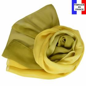 Foulard en soie dégradé vert