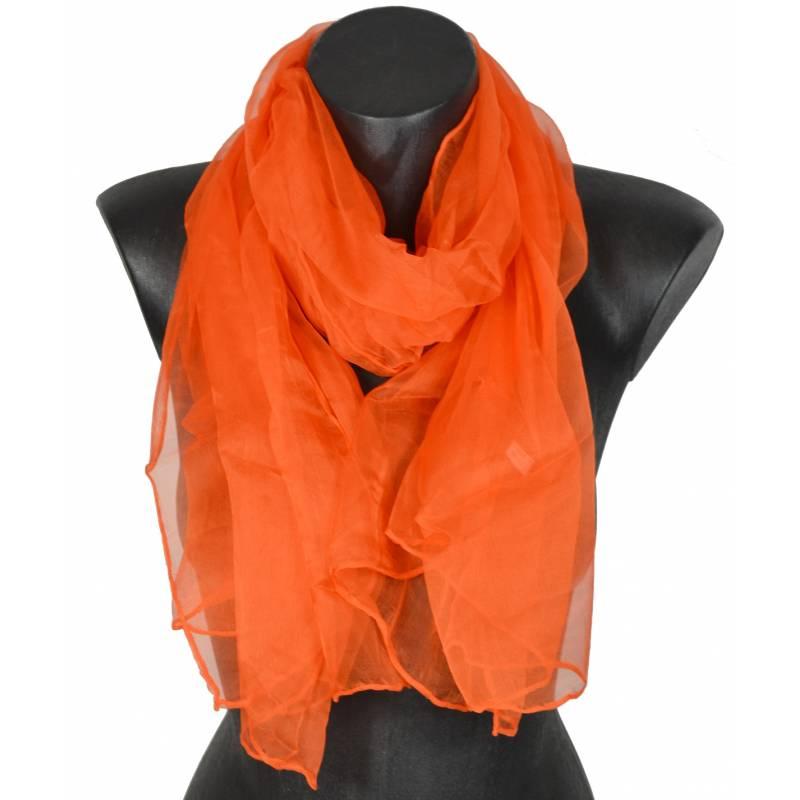 Foulard en soie orange foncé