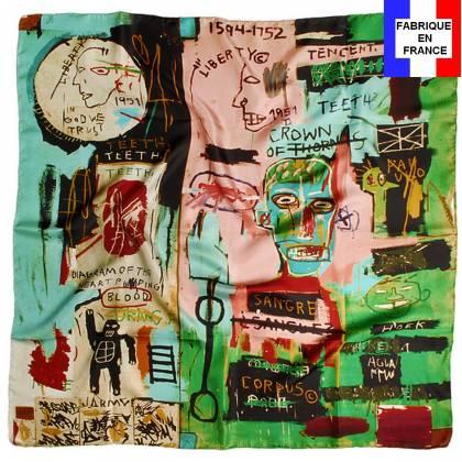 Carré de soie Basquiat – In Italian