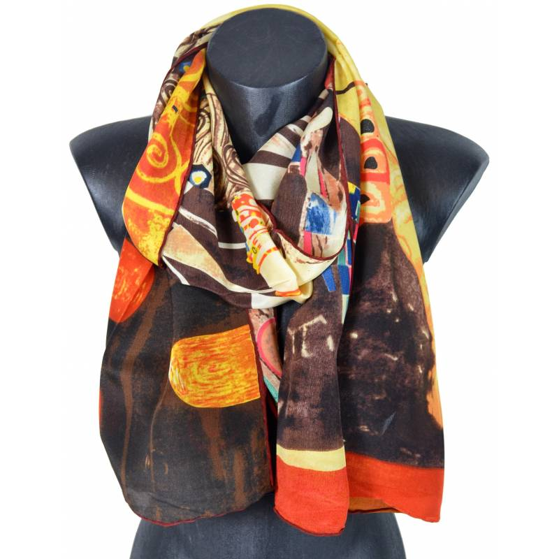Echarpe en soie Judith II  Klimt