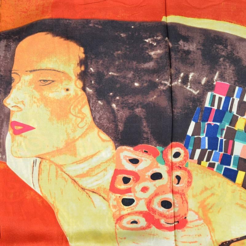 e882e75fbaa7 foulard en crepe de chine marron