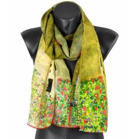 Echarpe en crêpe de Chine Le Baiser Klimt