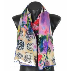 Echarpe en soie Ria Munk III Klimt