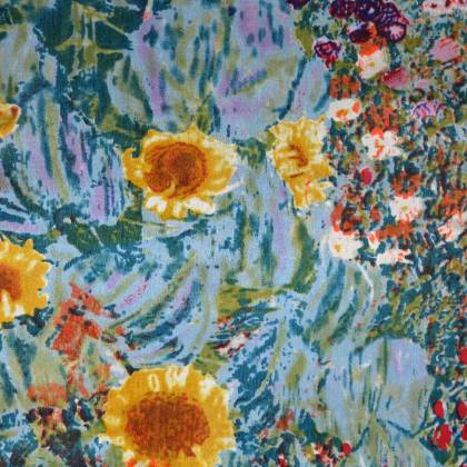 Echarpe en soie tournesols Van Gogh