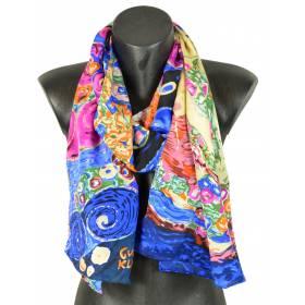 Echarpe en soie Virgin Klimt