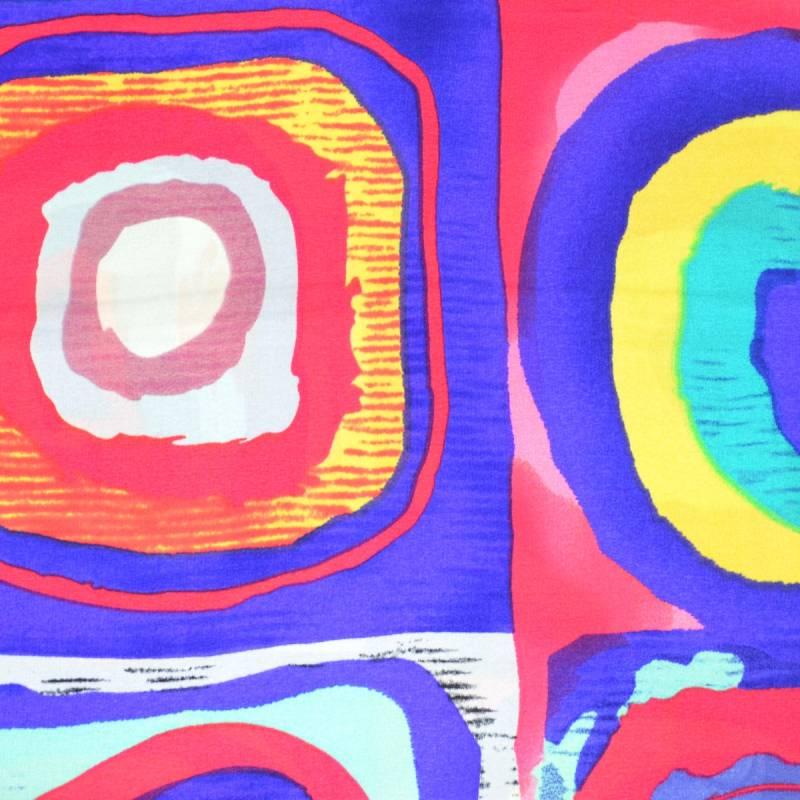 Echarpe en soie Ronds Kandinsky vs violet