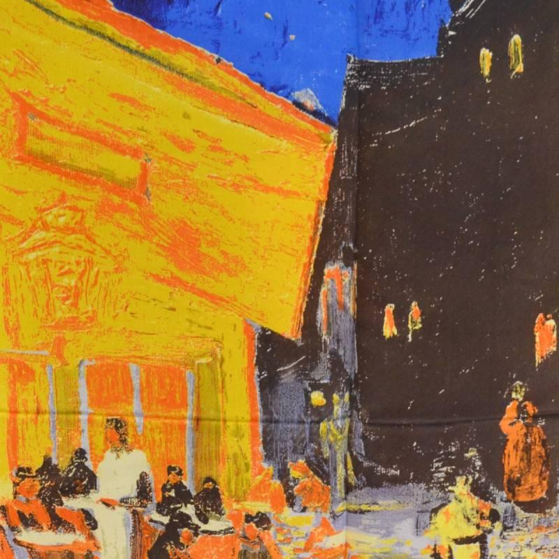 Echarpe soie Terrasse du café le soir Van Gogh