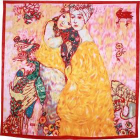 Carré de soie Les amies de Klimt