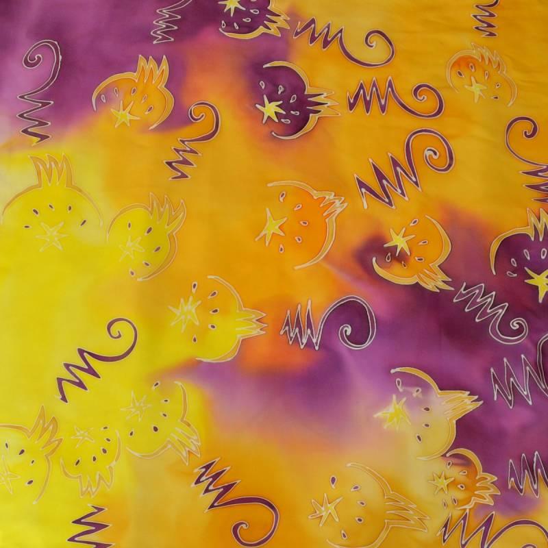 Carré Avigael peint à la main Graphic forest
