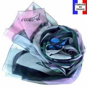 Echarpe en soie Picasso – Nu au bouquet d'Iris et au miroir
