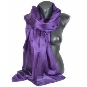 Etole en soie violet foncé