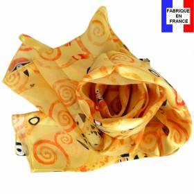Echarpe en soie Klimt - Arbre de Vie - vs jaune