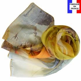 Echarpe en soie Bosch – Le jardin des délices, la licorne
