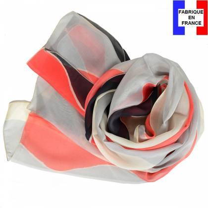 Echarpe en soie Delaunay – Vagues