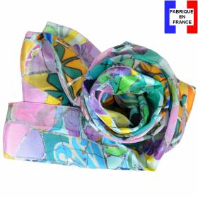 Echarpe en soie Gaudi – Fleurs Mauresques