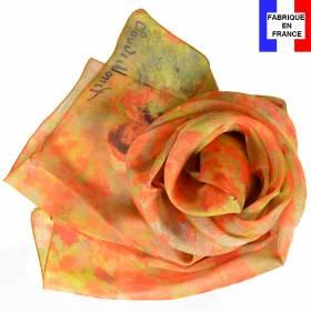 Echarpe en soie Monet – Coquelicots