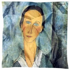 Carré de soie Modigliani – La jeune femme au col marin