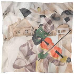 Carré en soie Chagall – La musique