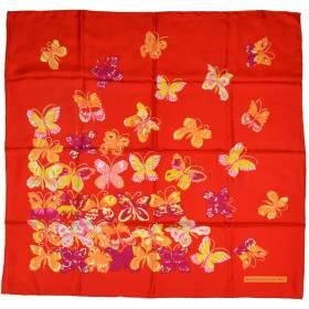 Carré de soie Dufy – Papillons vs rouge