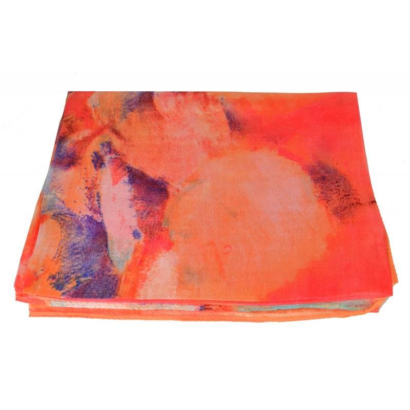 Etole en soie rose motif fondu