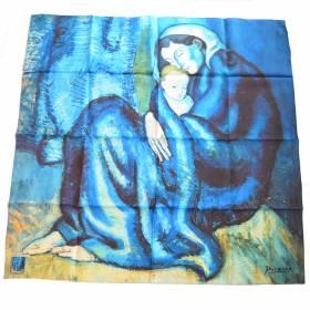 Carré de soie Picasso – Mère et enfant