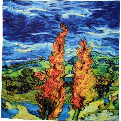 Carré soie impression digitale Van Gogh
