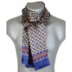 Foulard en soie bleu et rouge