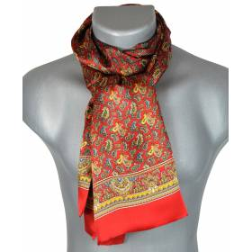 Foulard soie homme paisley rouge