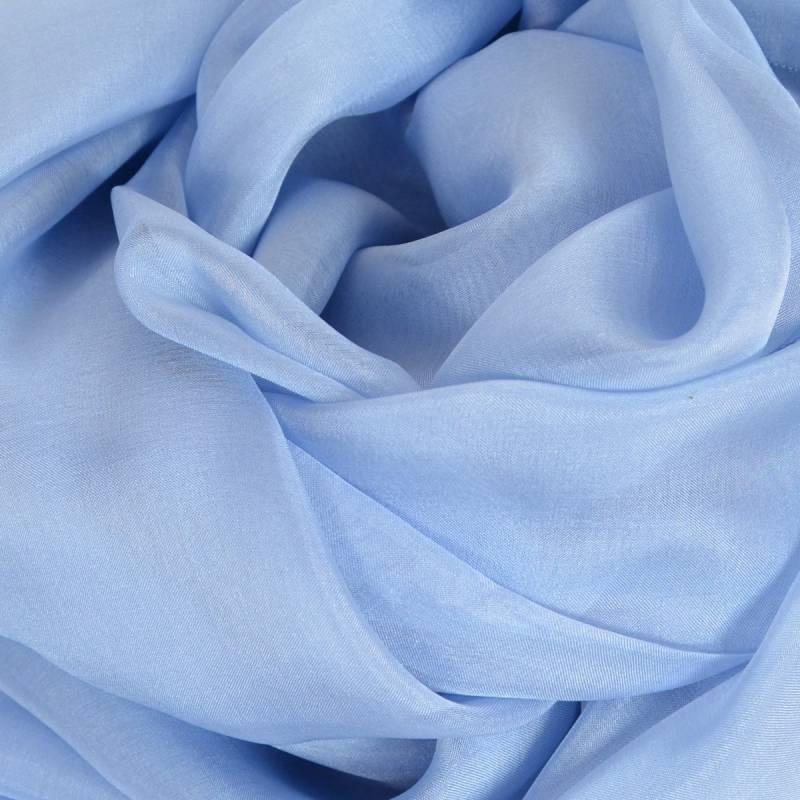 Etole soie cérémonie bleu-ciel made in France