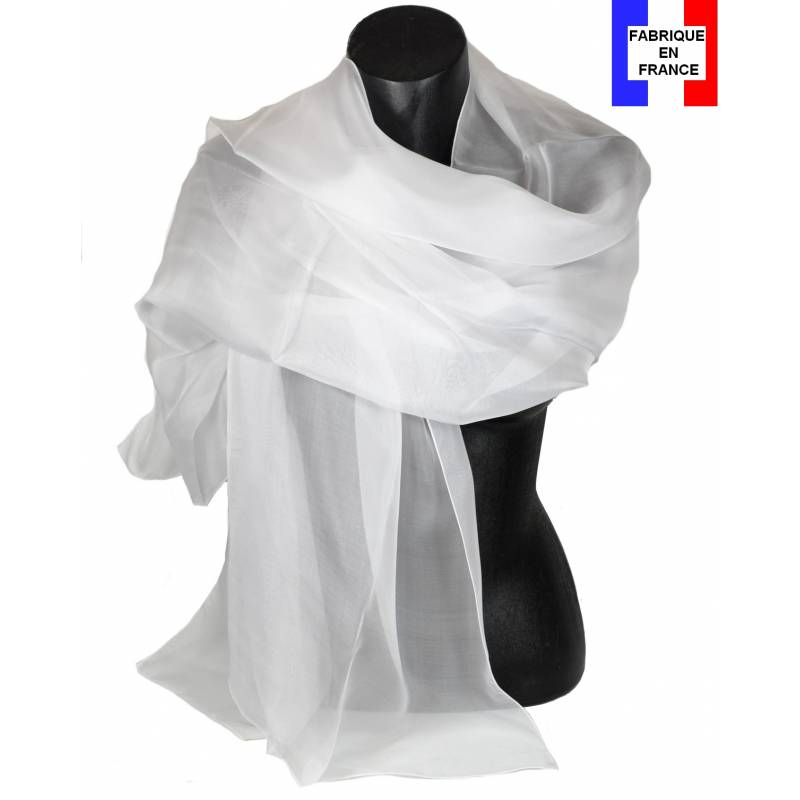 Etole soie cérémonie blanche made in France