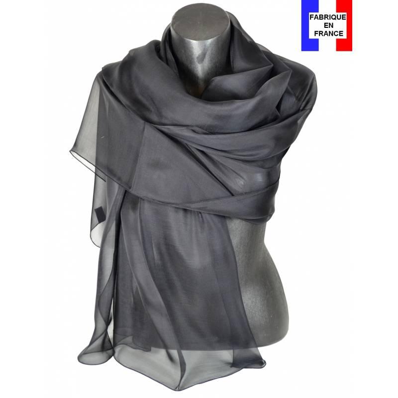 Etole soie cérémonie noire made in France