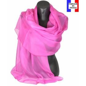 Etole soie cérémonie rose made in France