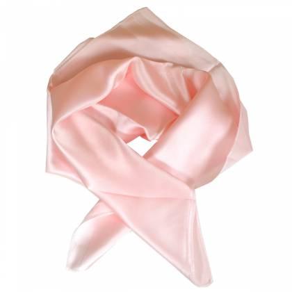Petit carré en soie rose clair