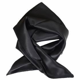 Petit carré en soie noir
