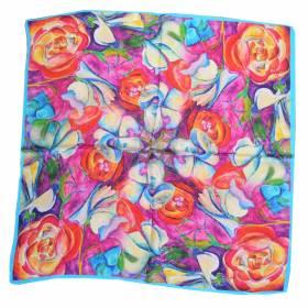 Petit carré en soie fleurs
