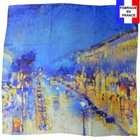 Carré de soie Pissaro, Le Boulevard Montmartre