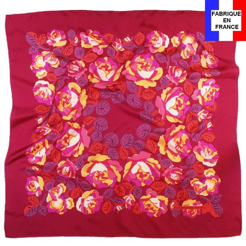 Carré de soie Dufy – Poiret roses