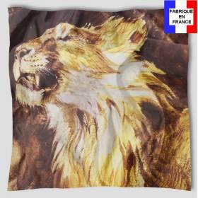 Carré de soie Delacroix – Tête de Lion rugissant