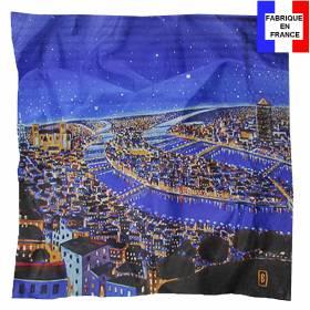 Carré de soie Benito, Lyon la Nuit