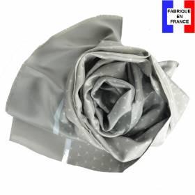 Echarpe homme en soie Dufy – Écailles gris